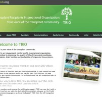 Web site design and layout for TRIO